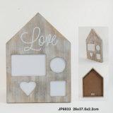 Marco Casa-Shaped de madera de la foto de Multiview de la nueva vendimia