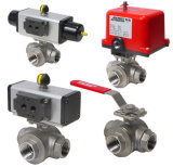 Floating a tre vie Stainless Steel Thread Ball Valve (porta di T/L)