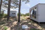 Casa de contenedor de acero de montaje fácil con sala de estar