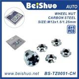 4+1 tuercas de fijación de la rueda de PCS/Set para antirrobo