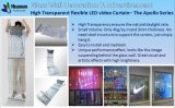 Kreativer transparenter ultra heller videovorhang für Messe, Ausstellung