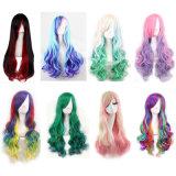 Выдвижения волос Avilable синтетического Ombra Braided париков повелительница Gaga Синтетическ Тень Парик тона длиной прямая зеленая