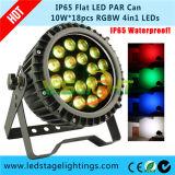 RGBW nehmen LED-NENNWERT Licht DMX512 18PCS*10W RGBW 4in1 leistungsfähige LED für die im Freienanwendung ab