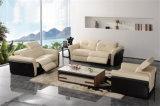 Самомоднейшая живущий софа кожи мебели комнаты (714#)