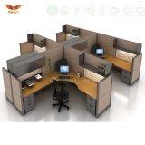 Compartimento moderno de Parition da estação de trabalho do escritório do local de trabalho para a floresta do Fsc da mobília de escritório certificada aprovada pela fábrica do GV