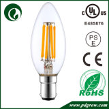 Bulbo do diodo emissor de luz do gelado de Dimmable do bulbo da vela do filamento do diodo emissor de luz de C35 6W 4W 2W E27 E26 E14