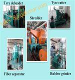 Verwendete Gummireifen-Gummifußboden-Matte, die Maschine/vollständige Zeile die Wiederverwertung des Geräts ermüden lässt
