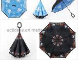 Parapluie inversé renversé droit mains libres portatif de postes neufs promotionnels