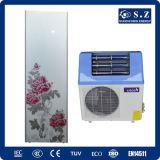 La eficacia alta de Dhw 60c de la familia salva el 80% Cop5.32 eléctrico Tankless 5kw, 7kw, pequeña energía solar del calentador de agua de la caldera de la pompa de calor 9kw