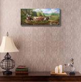 Peinture à l'huile classique avec la vache laitière