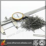Fibre extraite par fonte résistante au feu d'acier inoxydable pour le matériau réfractaire