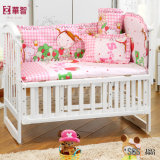 Stripe Rainbow Color Baby Bedsheet com travesseiro