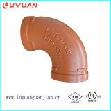 Ferrures de coude Grooved de fer malléable avec FM/UL reconnu (usine professionnelle)