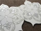 Natürliches Stein-Mischshell-Wasserstrahlmosaik-Fliese für Backsplash