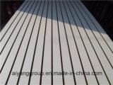 De hoge Glanzende Melamine glanst Ingelaste MDF met de Staaf van het Aluminium