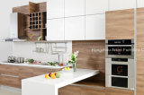 18mm High Glossy Lacquer & Melamine Door Quartz Countertop Kitchen Cabinet
