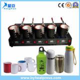 5 in 1 macchina combinata di sublimazione di scambio di calore della tazza per un trasferimento delle 5 tazze contemporaneamente