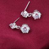Серьги кристалла двойника стерлингового серебра способа 925 женщин