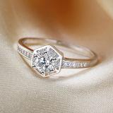 여자 925의 순은 매우 상한 형식에 의하여 박아 넣어지는 다이아몬드 반지