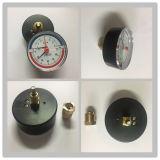 D80 빨강 조정가능한 포인터 압력과 온도 계기