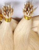 RemyのロシアのNanoリングの毛ワイヤー棒の人間の毛髪