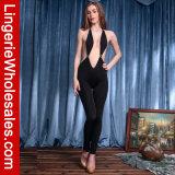 Costume Backless di Clubwear della tuta di immersione civettuola profonda del V-Collo delle donne sexy
