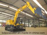 Máquina escavadora pequena amarela nova da esteira rolante 8ton da maquinaria de Baoding para a venda