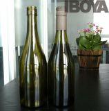 bottiglia di vino di vetro del Bordeaux ambrato 375ml con sughero, bottiglie di vino