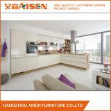 Gabinete de cozinha de madeira da laca do PVC do projeto novo feito em China