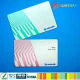 Scheda di carta Ultralight dei biglietti EV1 di HF MIFARE del sistema di trasporto