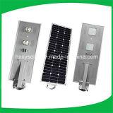 50W tutto in un indicatore luminoso di via esterno di energia solare LED con il sensore di PIR