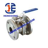 Valvola a sfera di galleggiamento dell'acciaio inossidabile della flangia dell'acqua della maniglia di API/ANSI