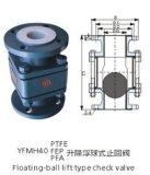 Válvula de verificação alinhada PFA da esfera da flutuação da válvula de verificação