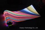 Pantalla flexible al aire libre de la cortina de Galaxias P12 LED