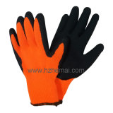 Gant thermique de travail d'hiver de sûreté de gants de caoutchouc spongieux de revêtement de couche