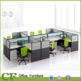 6 Seaters 사무용 가구 모듈 사무실 워크 스테이션 책상