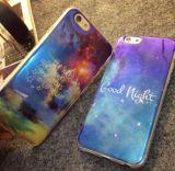 Form-Laser-blauer heller Spiegel-Handy-Kasten für iPhone