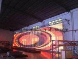 진열장을%s 가장 새로운 P10 실내 투명한 유리 발광 다이오드 표시 스크린 LED 영상 스크린