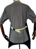 Waxed Canvas Womens Shop Apron com Cotton Webbing