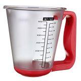 Чашка и маштаб цифров продуктов точности измеряя