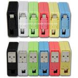 Bewegliches einziehbares Mikro USB-aufladenkasten-Kabel