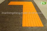 Cortinas de borracha que pavimentam a telha tátil dos tijolos para a pessoa cega