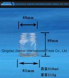 Diamant-Muster-transparentes Glasflaschen-Stau-Glas