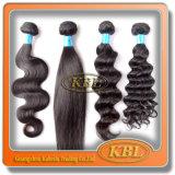 二重よこ糸が付いているブラジルの人間の毛髪のよこ糸