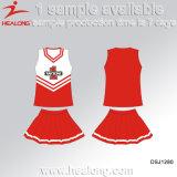 Señoras coloridas de la sublimación del precio de fábrica de Healong Cheerleading las alineadas