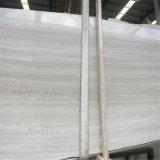 Mattonelle di marmo bianche di legno bianche popolari del marmo 10mm sottilmente
