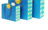 Bolso revestido promocional del embalaje del cuadro del cartón del portador de papel de arte de las compras del presente de papel del regalo para los cabritos/niño (Y10)