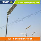 Hohes Lumen Outdoor Solar Cell Street Light All in Ein