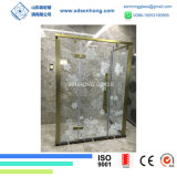 O ácido desobstruído gravou o deslizamento da porta do chuveiro do vidro Tempered de Frameless