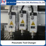 Máquina 1325 de madeira pneumática do router do CNC do Woodworking do ATC para a cinzeladura da gravura